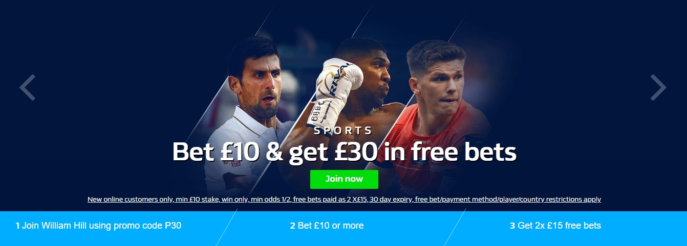 Live sports betting on William Hill
