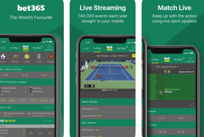 Bet365 mobile: live streams